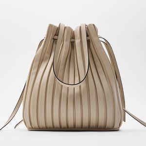 ✅ HOST PICK! ZARA PLEATED BUCKET BAG -Faux Leather